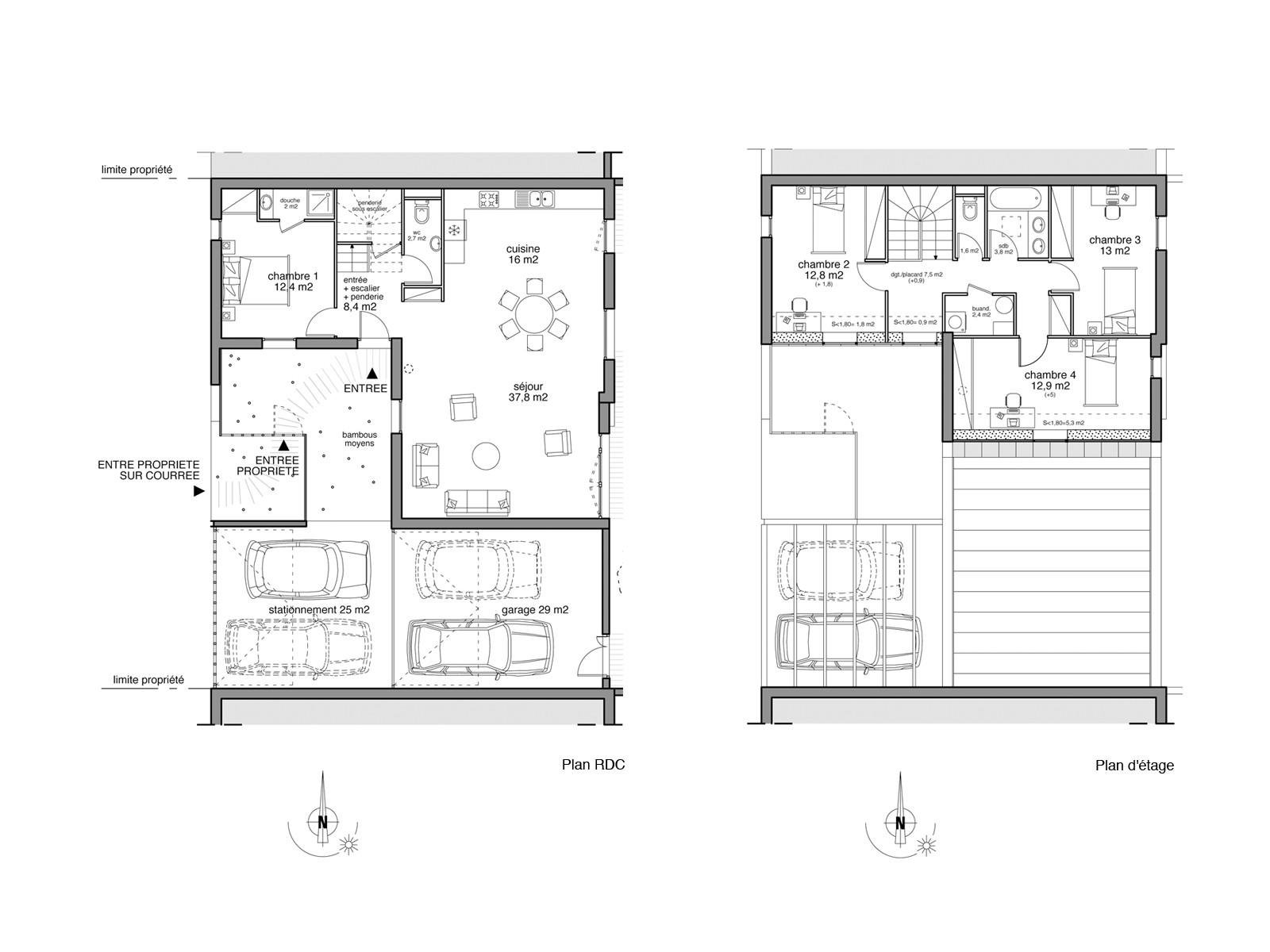 plan maison de ville mitoyenne perfect maison mitoyenne ct m with plan maison de ville. Black Bedroom Furniture Sets. Home Design Ideas