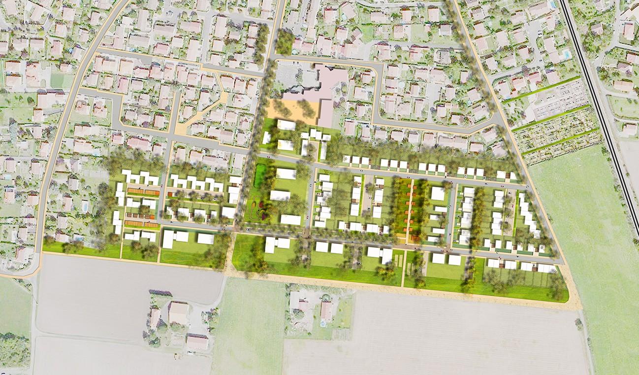 tekhn architectes l coquartier de bourrassol un liant entre l urbain et l agricole aeu. Black Bedroom Furniture Sets. Home Design Ideas